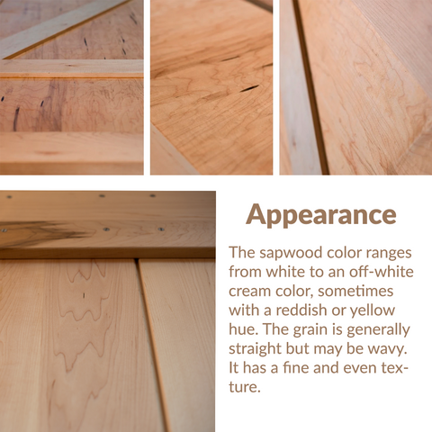 RealCraft Wood Species 101 Series: Maple. Wood lumber appearance and and characteristics