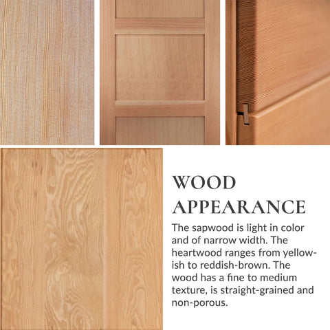 RealCraft Wood Species 101 series: Douglas Fir Geographic Distribution Wood Appearance
