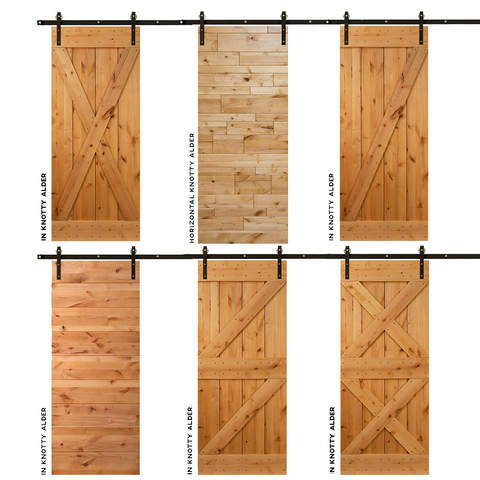 Knotty Alder used in doors example