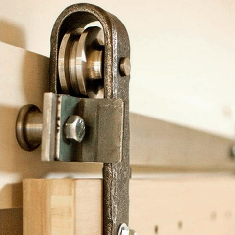 5. Hammered Metal Barn Hardware is an amazing option for rustic living spaces
