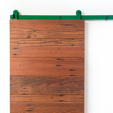 16. A pop of color with Spectrum Color Sliding Barn Door Hardware