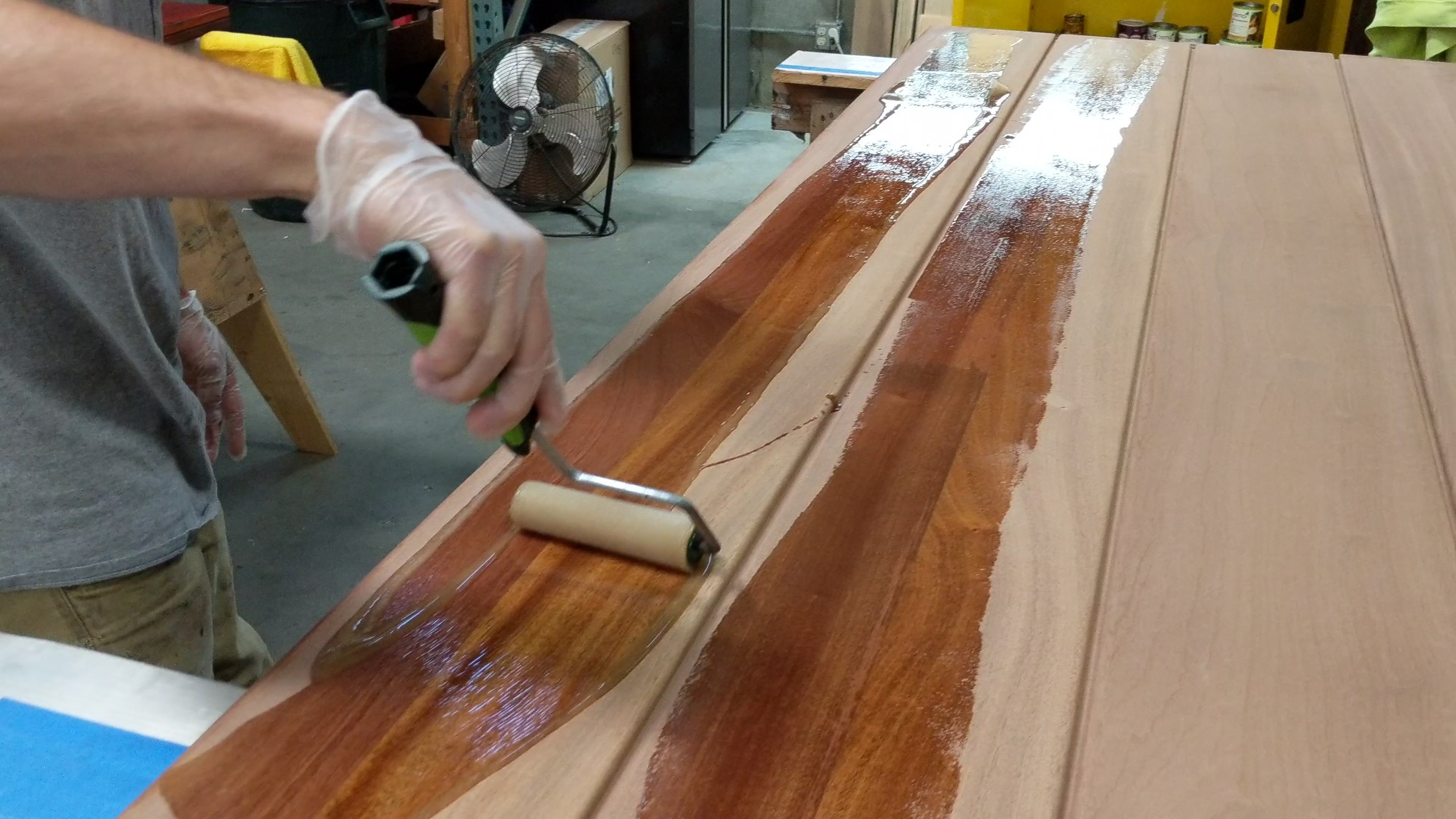 wood finish application