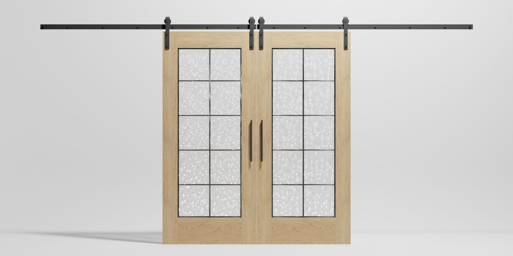 Full French Glass Sliding Barn Door by RealCraft