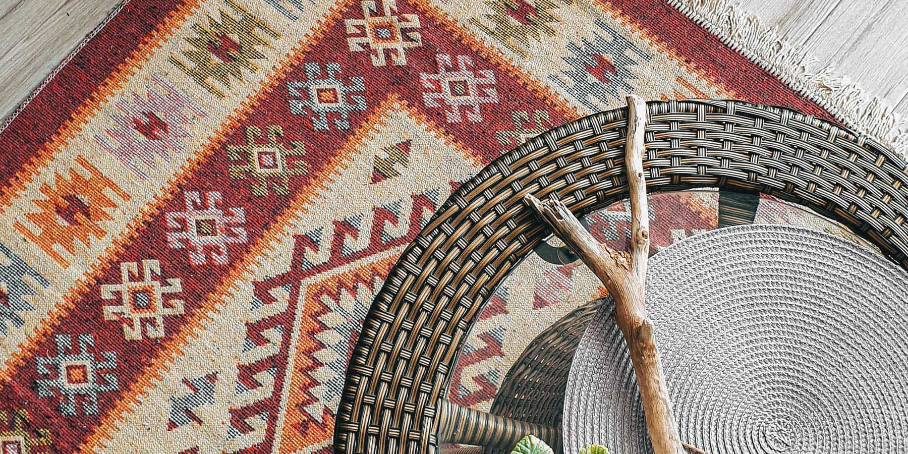 Boho Décor Ideas by RealCraft: Rug with different colors and patterns