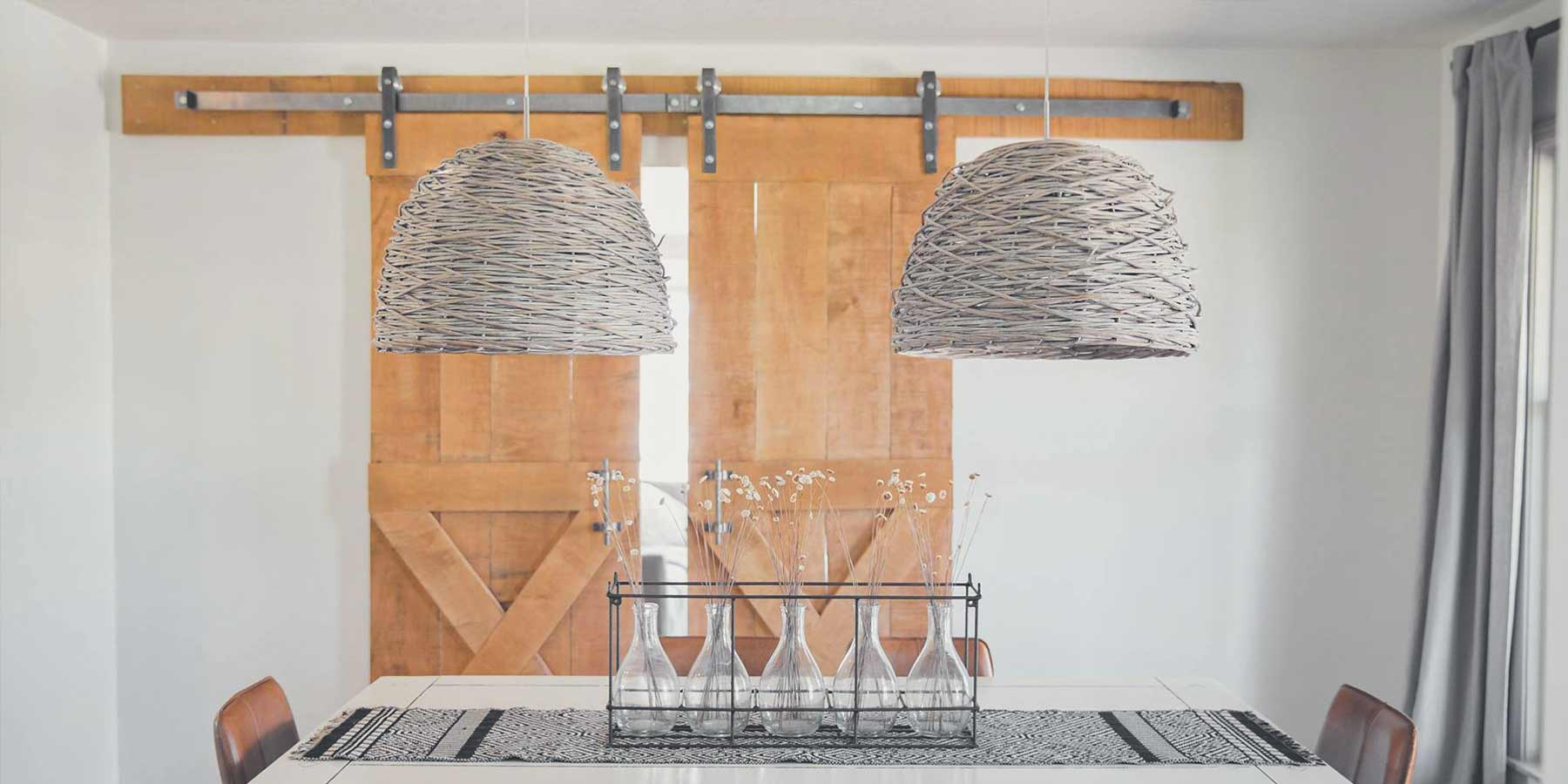 Boho Décor Ideas by RealCraft: Dining Room featuring RealCraft's hammered hardware