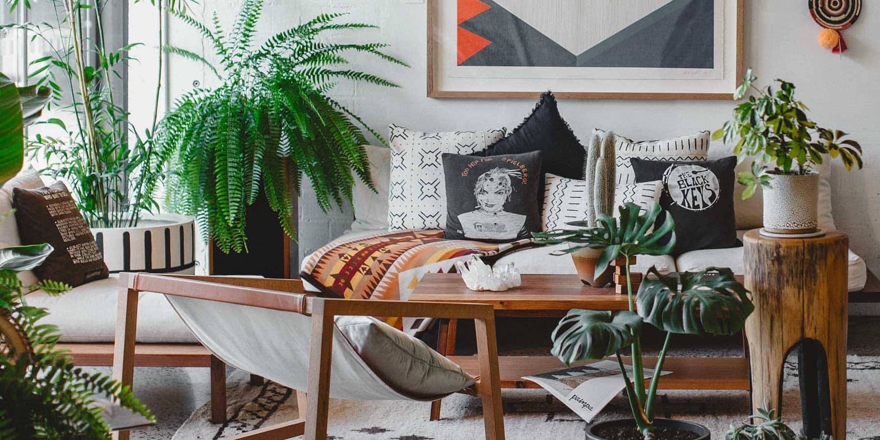 Boho Décor Ideas by RealCraft: Room decorated with multiple indoor plants