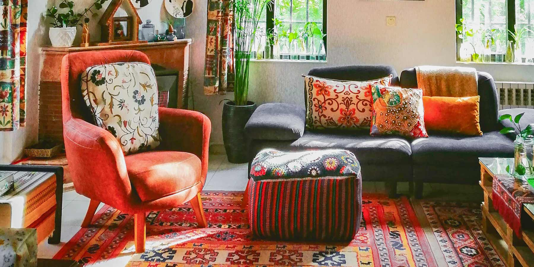 Boho Décor Ideas by RealCraft: Layered PAtterns