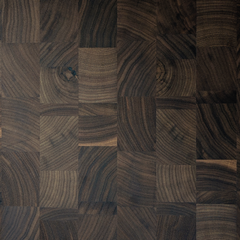 RealCraft's Butcher Block Countertop Construction style options thumbnail: Linear end Grain