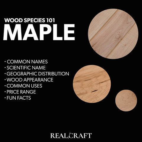 RealCraft Wood Species 101 Series: Overview description with wood samples