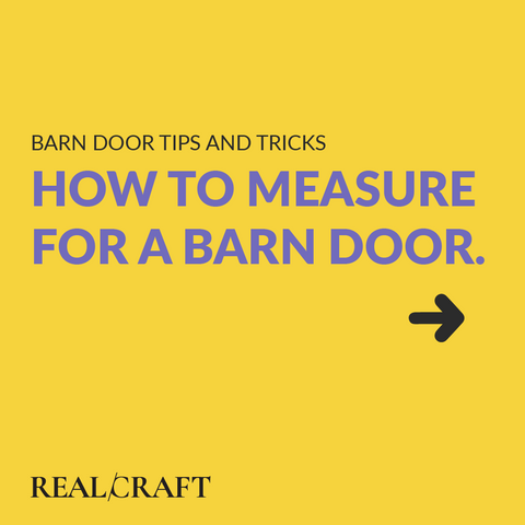how to measure for a barn door