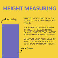 guide how to measure the height for a sliding barn door