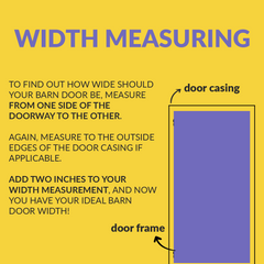 guide how to measure the width for a sliding barn door