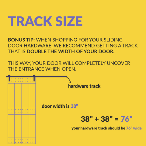 how to measure a barn door track size example