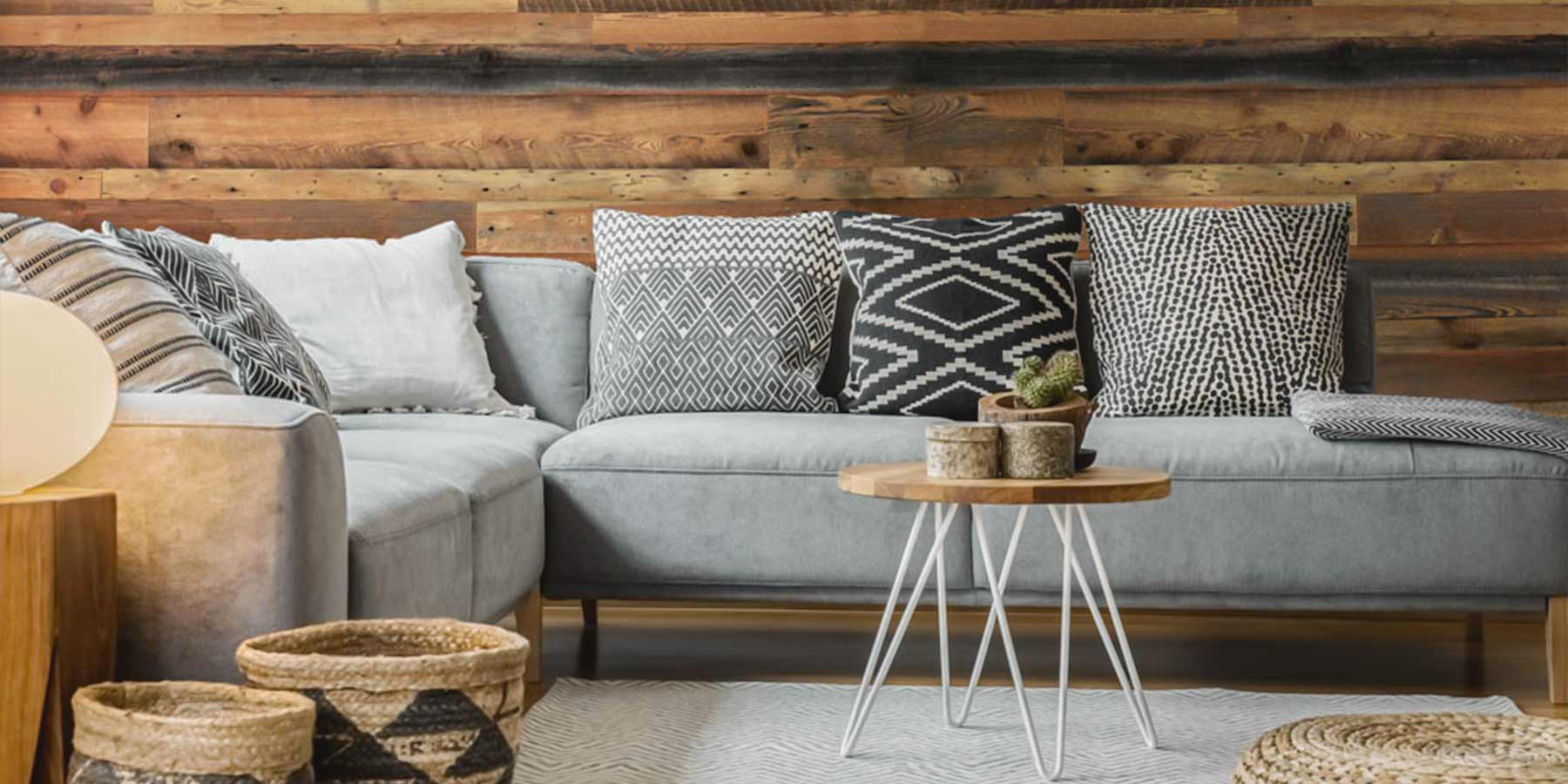 Boho Décor Ideas by RealCraft: Wood Accent Wall