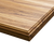Zebra wood - roman ogee butcher block countertop - top angled view