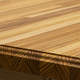 Zebra wood - roman ogee butcher block countertop - edge detail