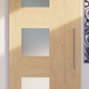 The Mid-Century Modern Tri Window Sliding Barn Door by RealCraft