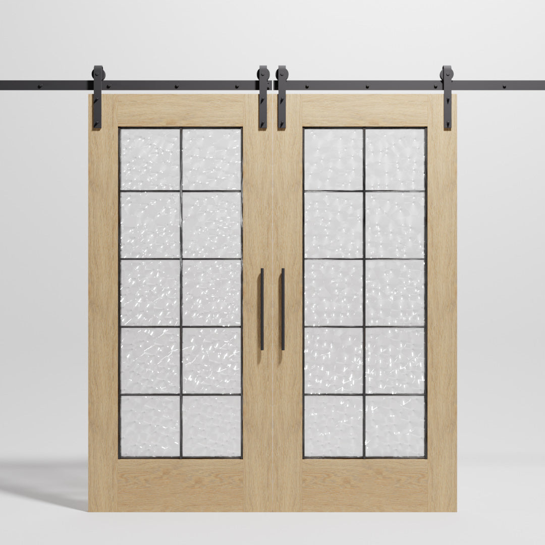 Double Full French Door Sliding Barn Door by RealCraft