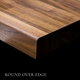 Walnut Butcher Block Countertop by RealCraft roundover edege