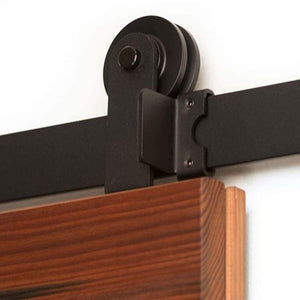 Adjustable End Stop for Flat Track Kits (powder coated to match track) - Sliding Barn Door Hardware by RealCraft