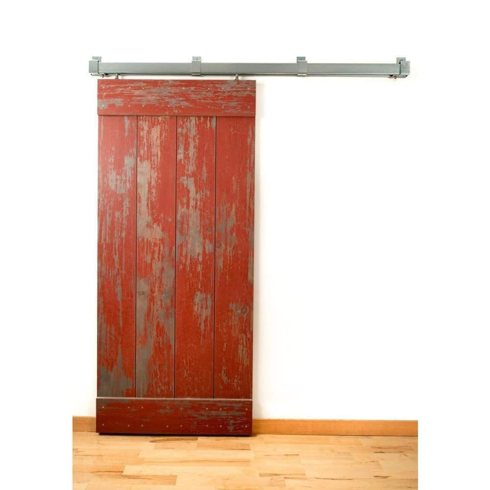 Box Rail Barn Door Sliding Hardware Kit - Interior & Exterior (400 lb) - Sliding Barn Door Hardware by RealCraft