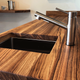 Butcher Block Countertops - Sliding Barn Door Hardware by RealCraft