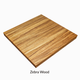 Butcher Block Countertops - Sliding Barn Door Hardware by RealCraft thumbnaill: Zebra wood