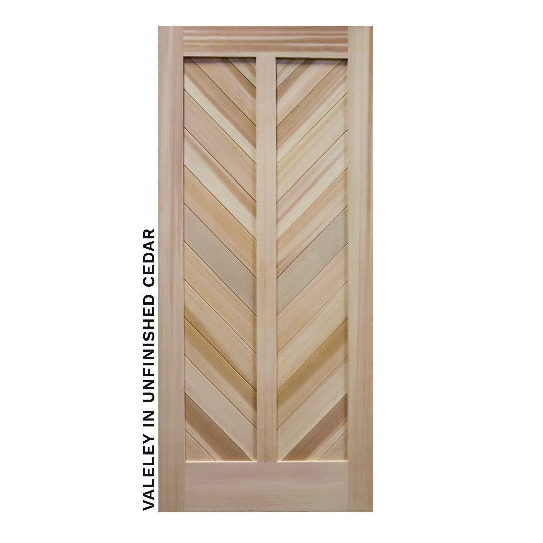 Mountain Chevron Sliding Barn Door by RealCraft