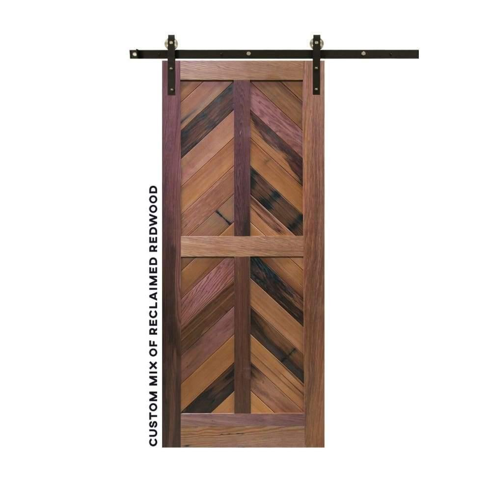 Chevron Four Panel Sliding Barn Door - Sliding Barn Door Hardware by RealCraft