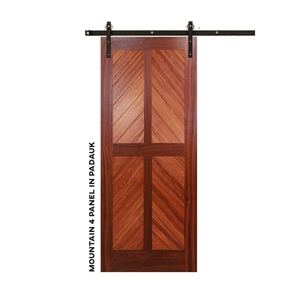 Chevron Four Panel Swinging Barn Door - Sliding Barn Door Hardware by RealCraft