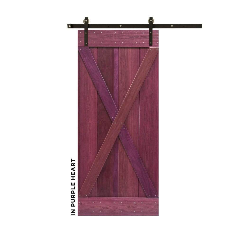 Classic X-Brace Sliding Barn Door Kit - Sliding Barn Door Hardware by RealCraft