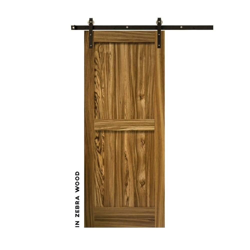 Craftsman Double Panel Sliding Barn Door - Sliding Barn Door Hardware by RealCraft