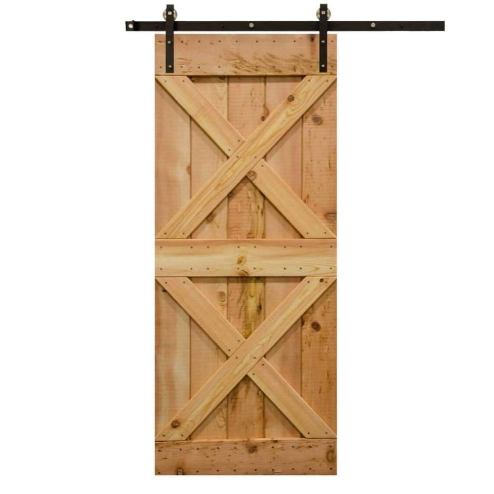 Double-X Sliding Barn Door Kit - Sliding Barn Door Hardware by RealCraft