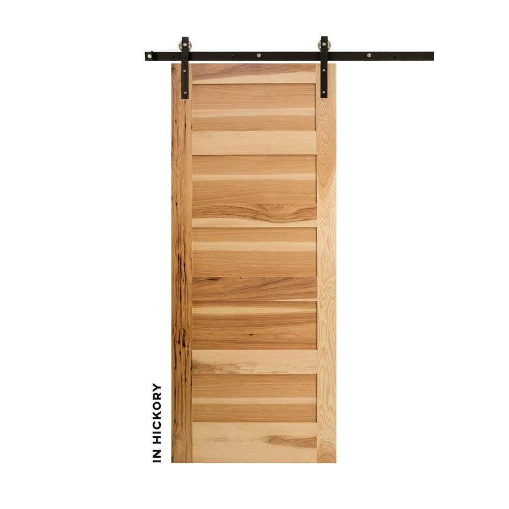Five Panel Horizontal Sliding Barn Door - Sliding Barn Door Hardware by RealCraft