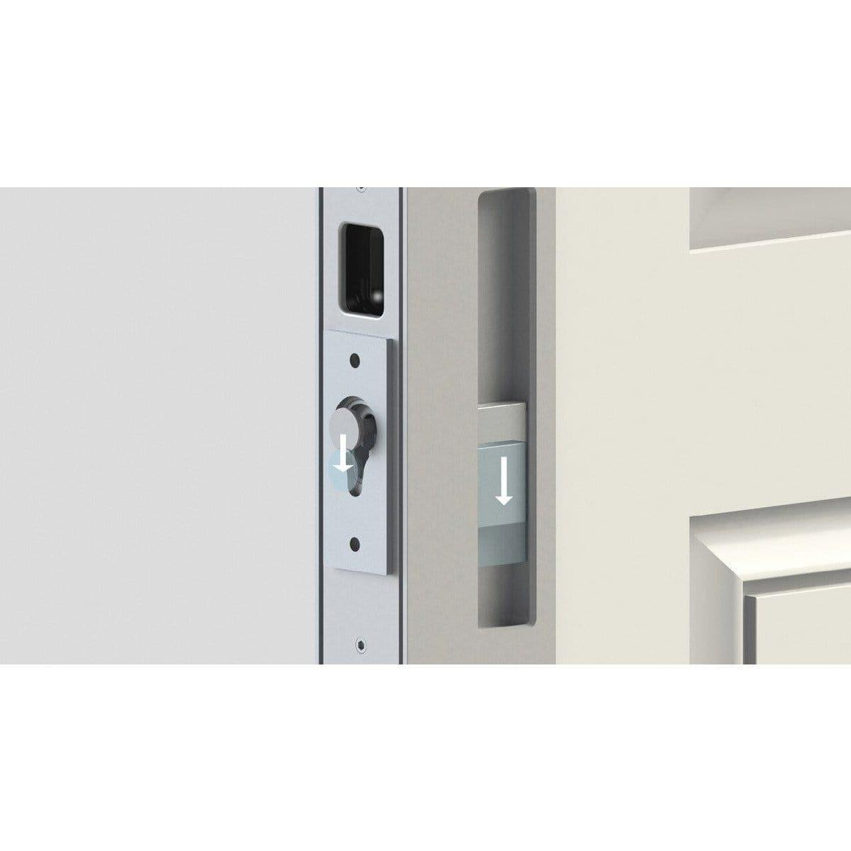 Magnetic Privacy Sliding Barn Door Lock & Handle - Sliding Barn Door Hardware by RealCraft