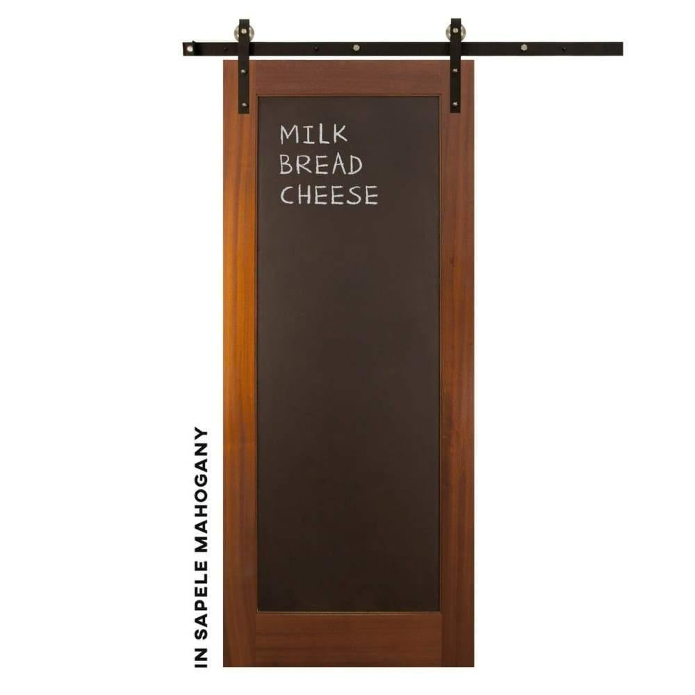 Metal Chalkboard Swinging Barn Door - Sliding Barn Door Hardware by RealCraft