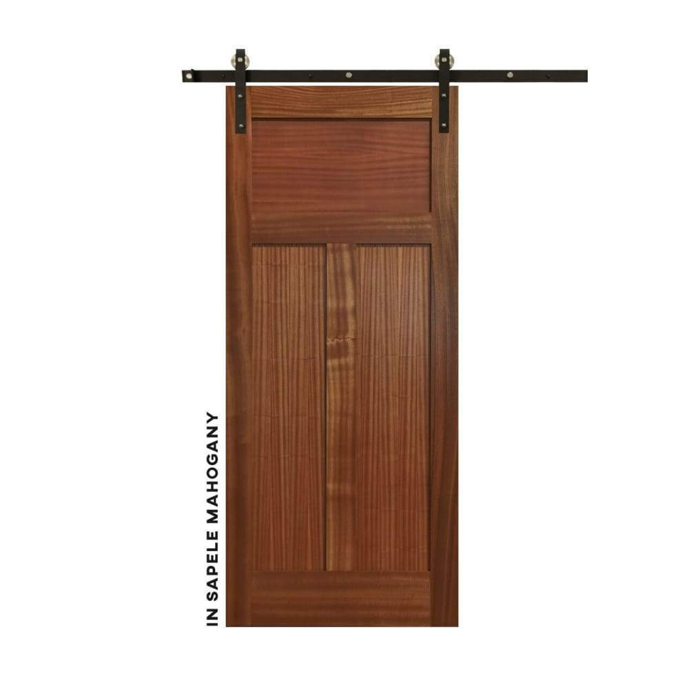 Shaker Style High-T Panel Sliding Door - Sliding Barn Door Hardware by RealCraft