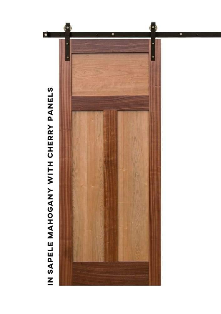 Shaker Style High-T Panel Swinging Door - Sliding Barn Door Hardware by RealCraft
