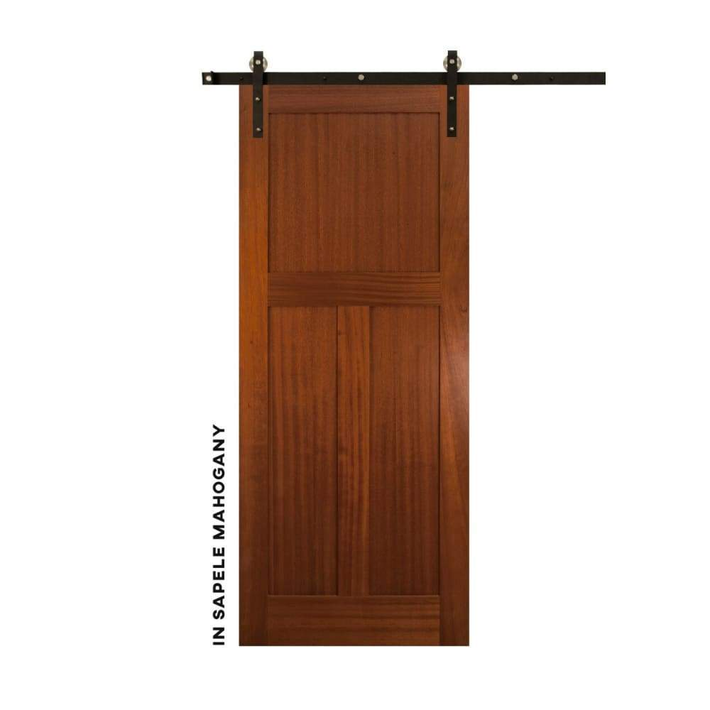 Shaker Style Low T Panel Sliding Door - Sliding Barn Door Hardware by RealCraft