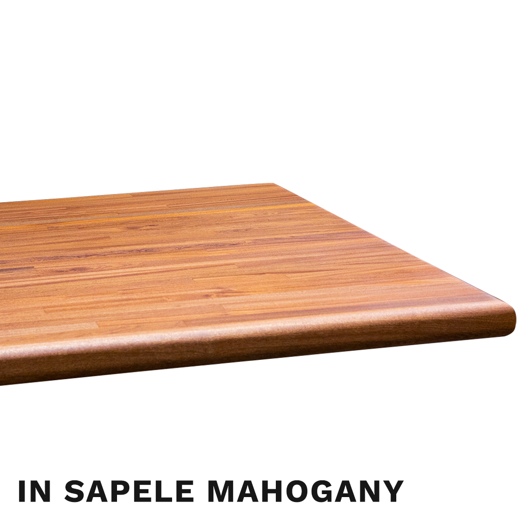 Sapele Mahogany Butcher Block Countertop with Bullnose Edge | RealCraft