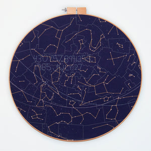 Custom Night Sky Embroidery