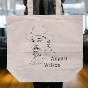 August Wilson Embroidered Canvas Tote