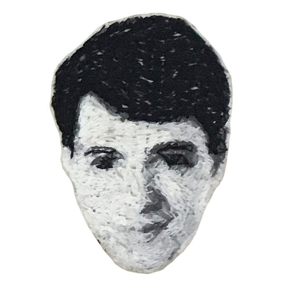 Ferris Embroidered Portrait Pin with leather backing and silver pin back. Brooch. HOW COULD YOU? by mia weiner. SAVE FERRIS