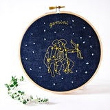 Gemini Zodiac Embroidery (May. 21 - June 20)