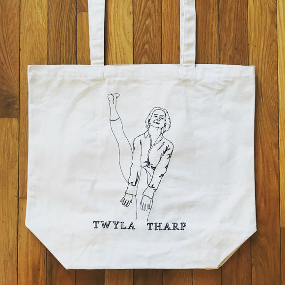 Twyla Tharp Embroidered Canvas Tote