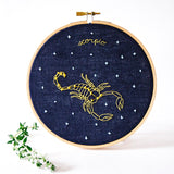 Scorpio Zodiac Embroidery (Oct. - Nov. 21)