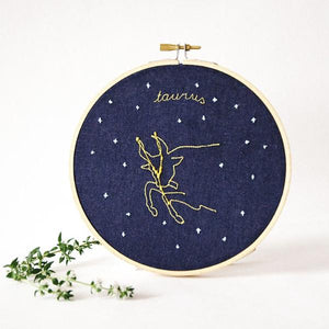 Taurus Zodiac Embroidery (April 20 - May 20)