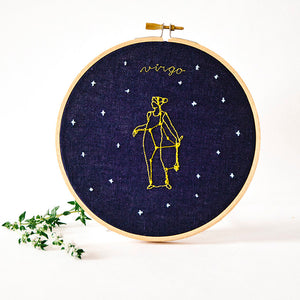 Virgo Zodiac Embroidery (August 23 - September 22)