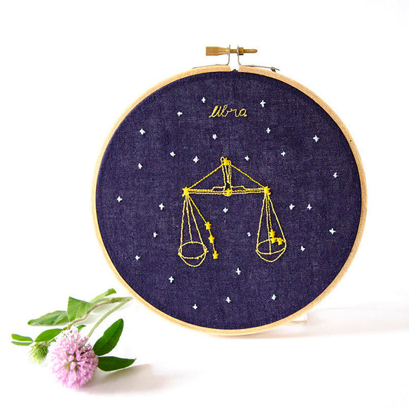 Libra Zodiac Embroidery (Sept. 23 - Oct. 22)
