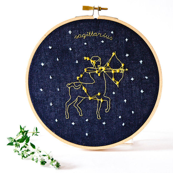 Sagittarius Zodiac Embroidery (Nov. 22 - Dec. 21)